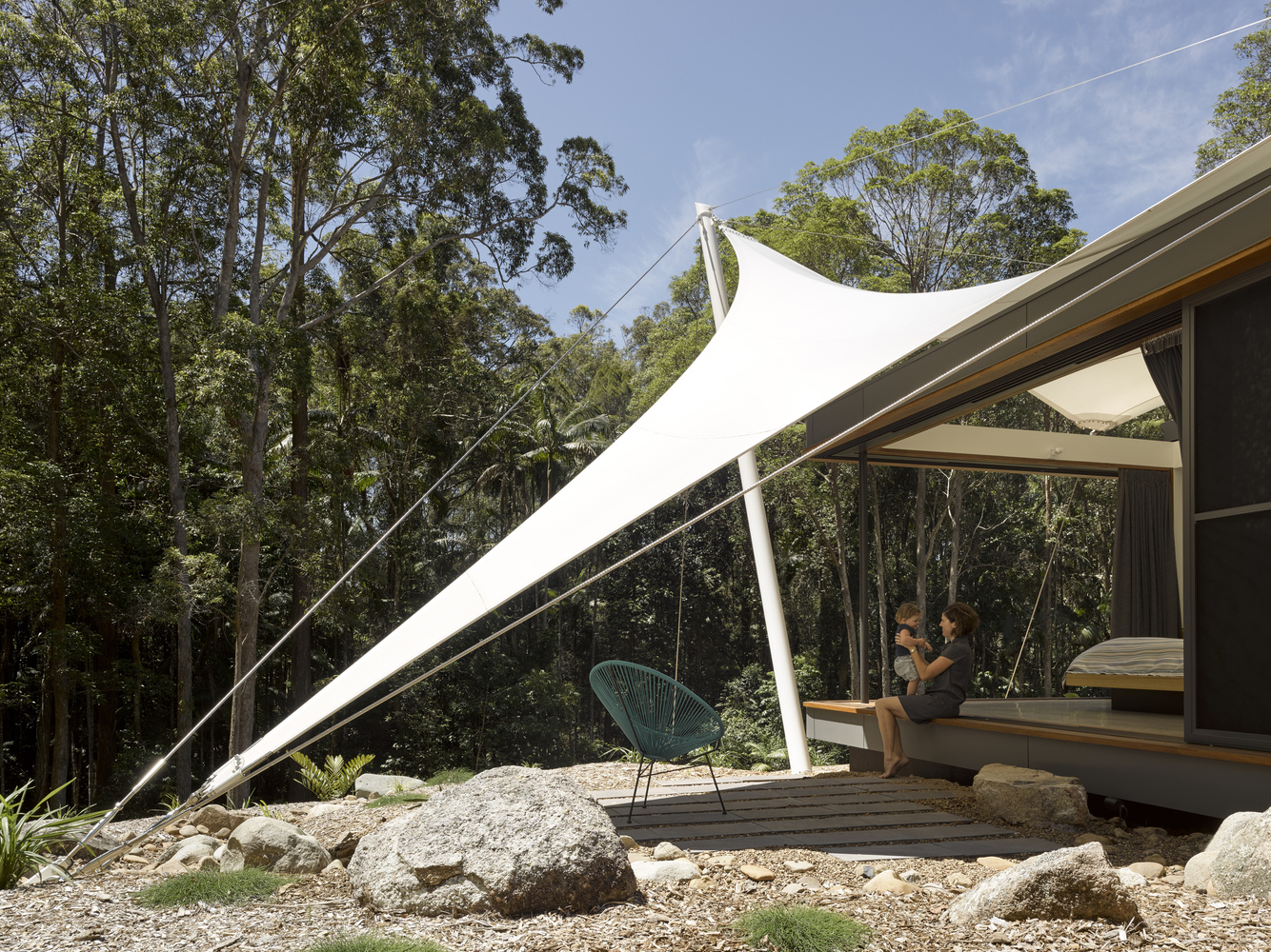 The tent also serves some key practical purposes of course including providing shading the home and aiding in natural ventilation thanks to the void ... & Modern rainforest home lives large under a tent roof - Curbed