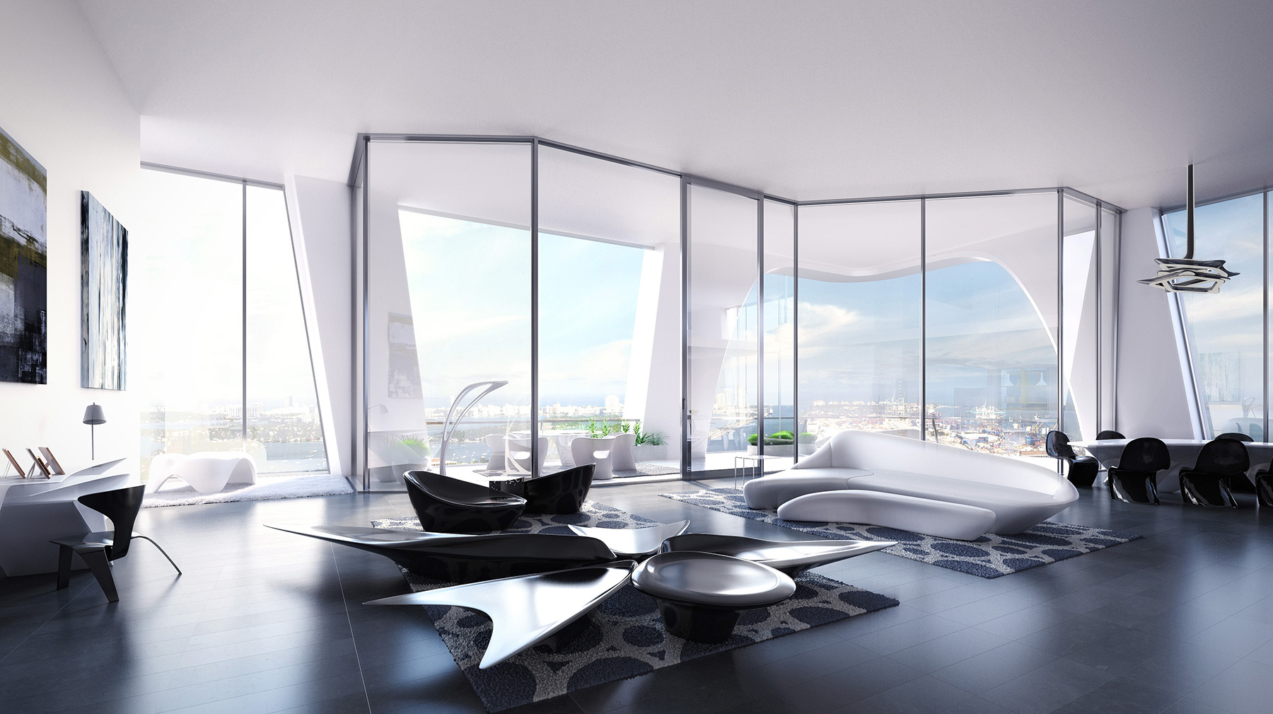 Inside A Residence At Zaha Hadid S One Thousand Museum