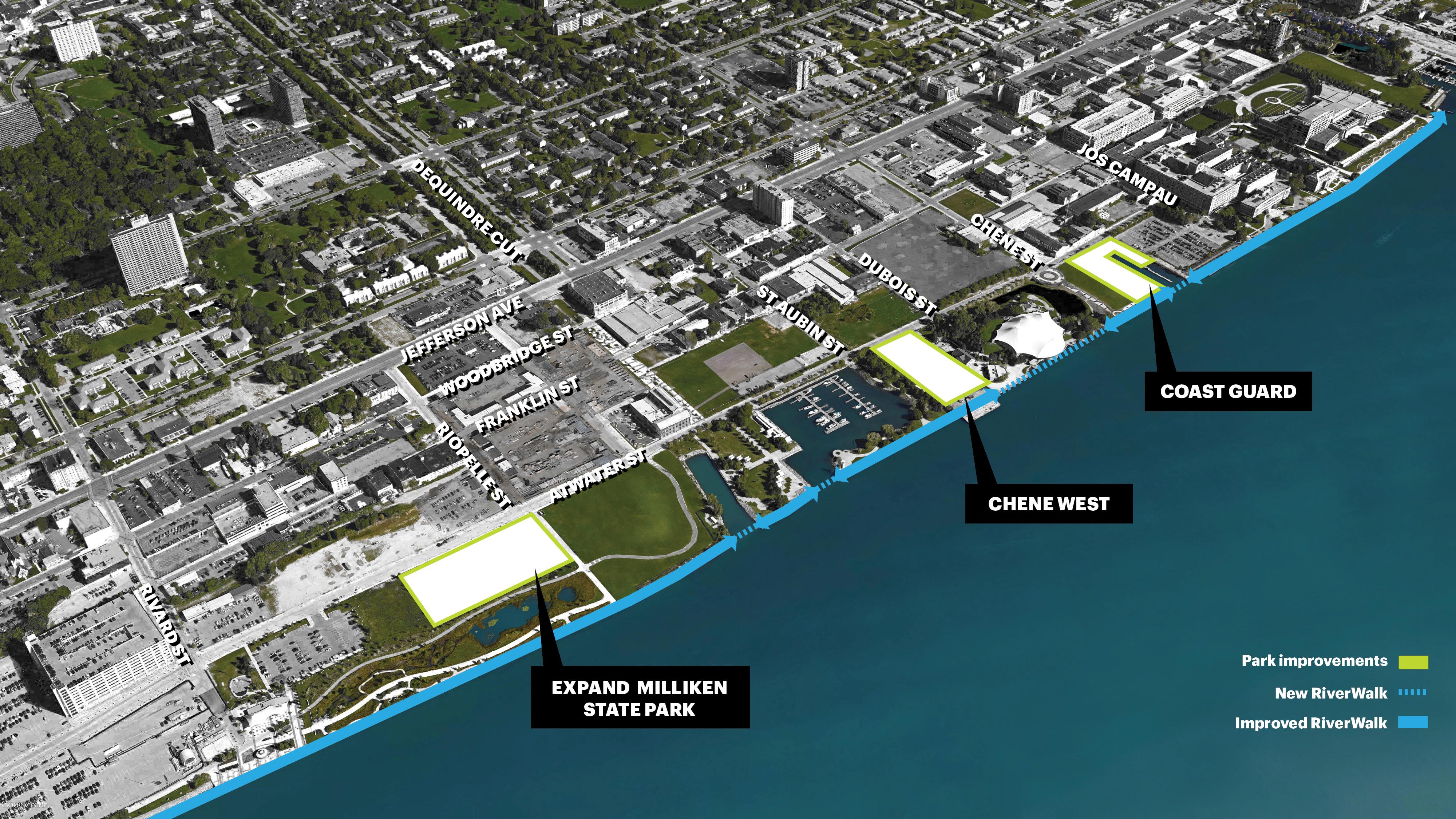 Detroit RiverFront Conservancy Reveals Plans For East Riverfront Redevelopment - Curbed Detroit
