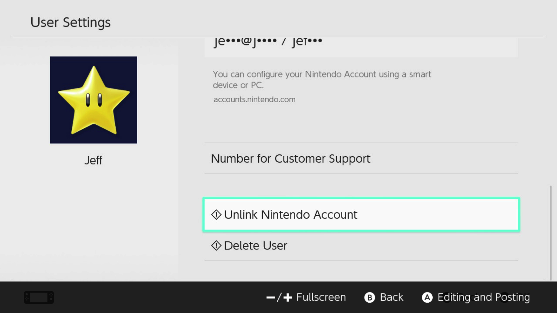 how to change nintendo network id password