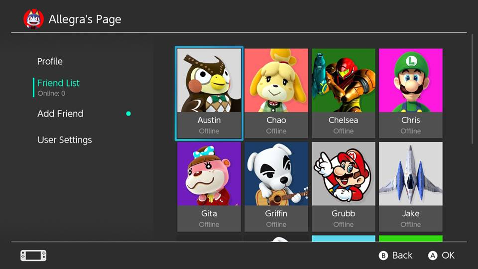 Image result for Nintendo Switch friend list