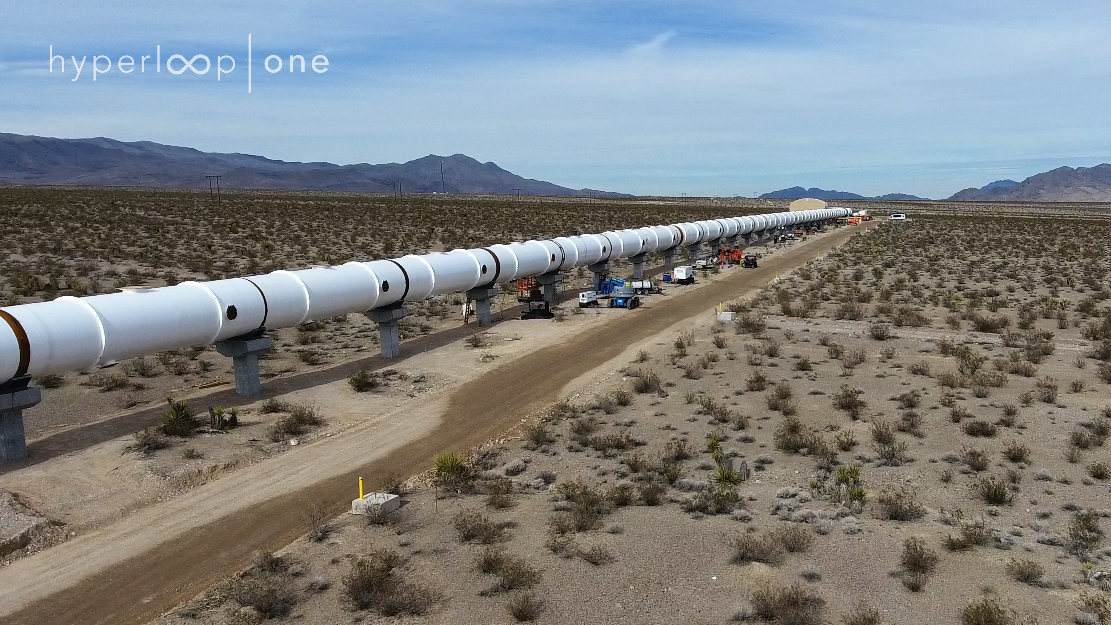 Hyperloop One shows off its first superfast test track in