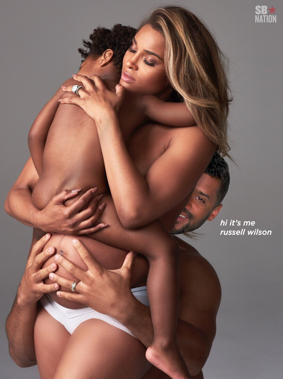 This bizarre Ciara and Russell Wilson family photo raises so many questions