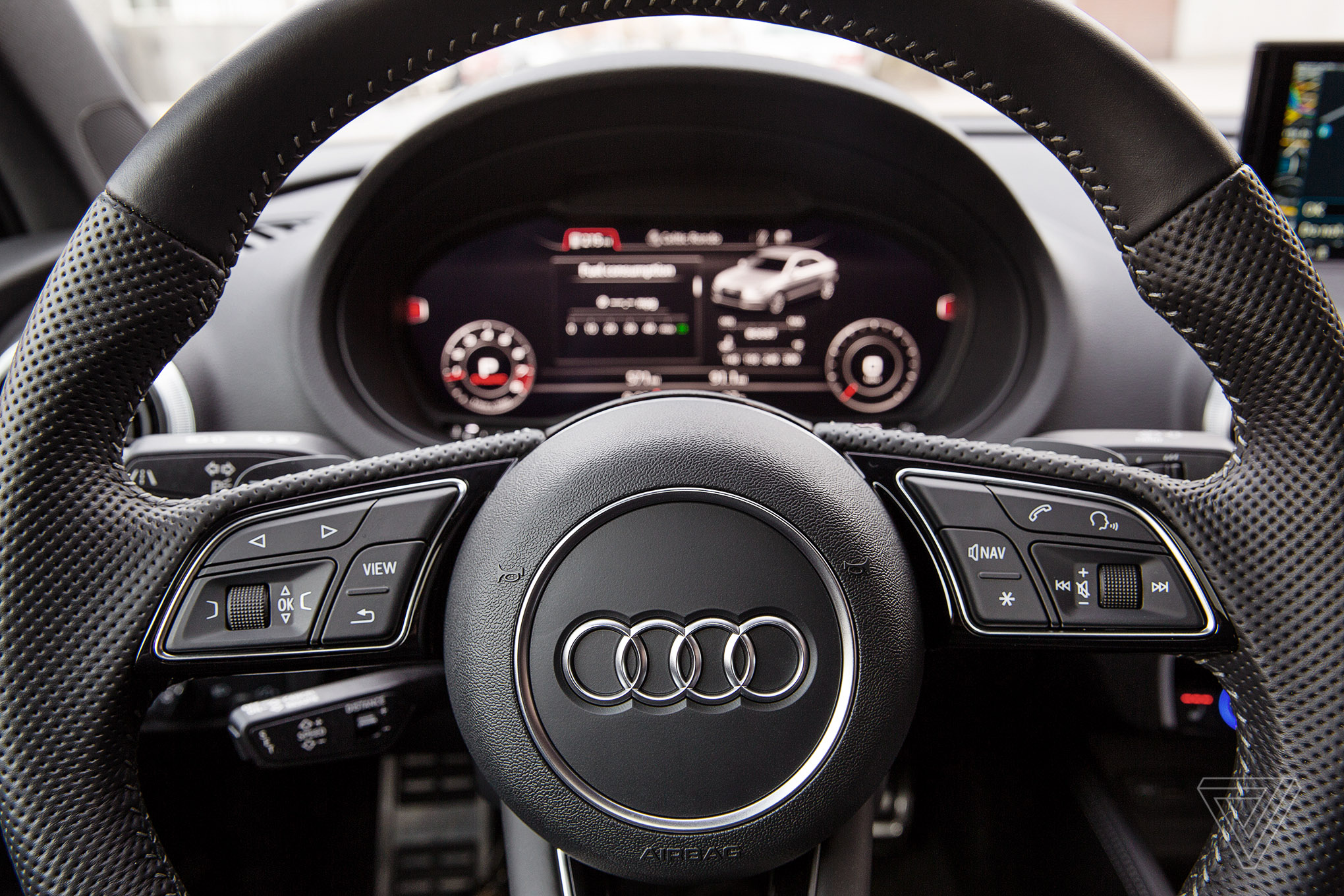ScreenDrive The Audi S Reinvents The Moving Screen The Verge - Audi car sign
