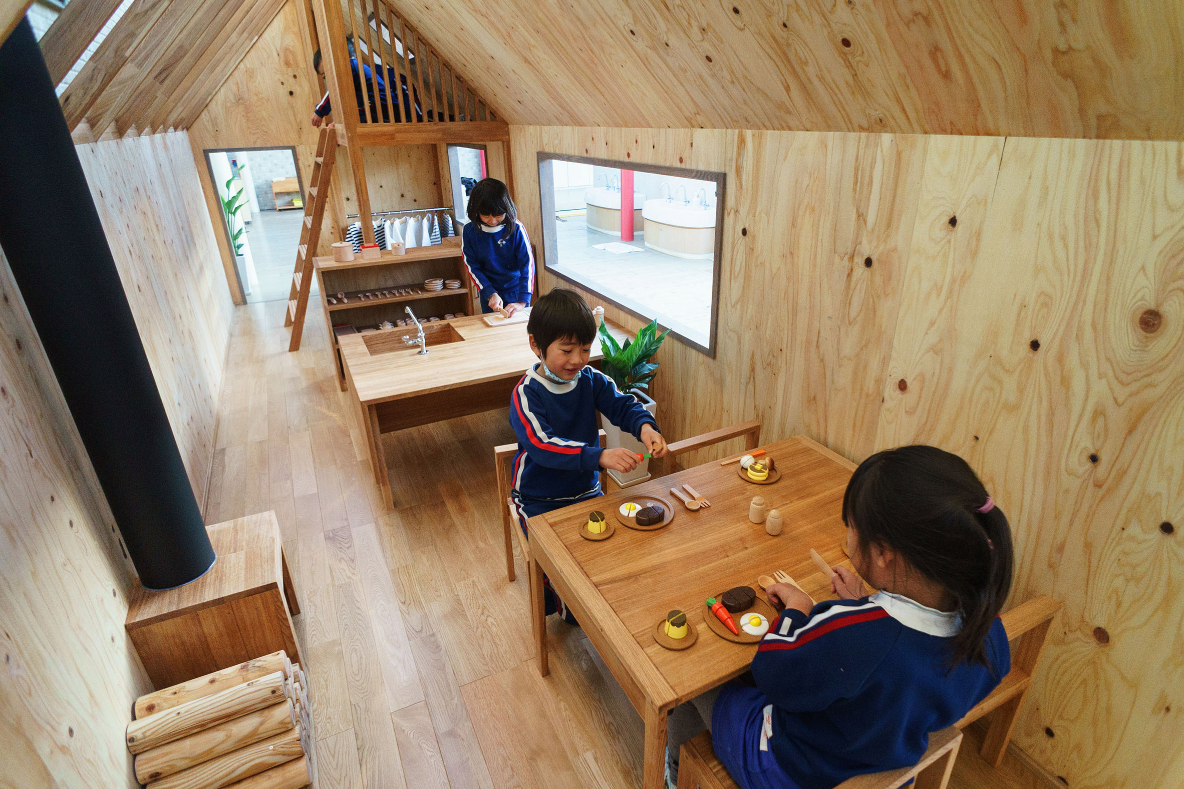 Tiny house for playing house added to Japanese kindergarten Curbed