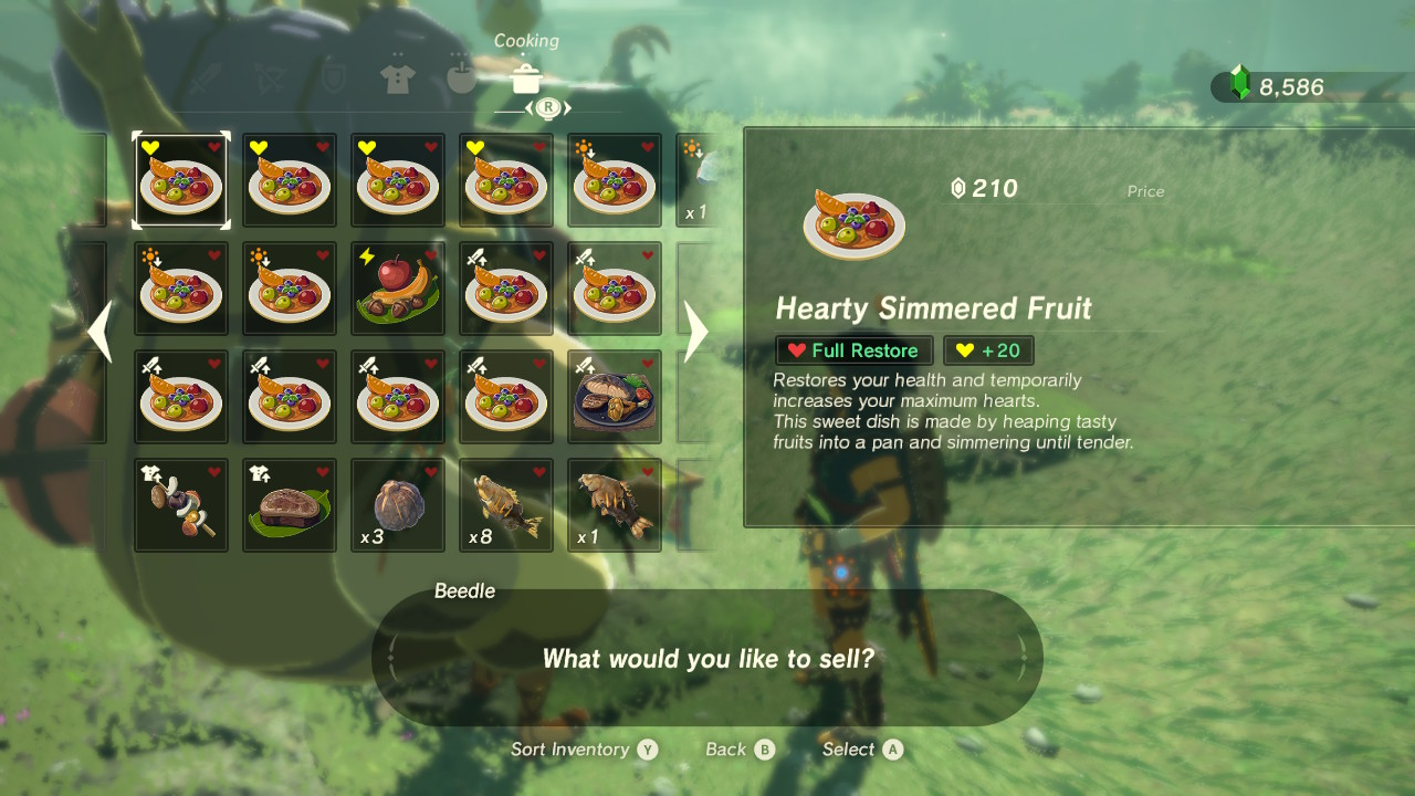Zelda breath of the wild s easiest way to gain hearts for Cuisine zelda
