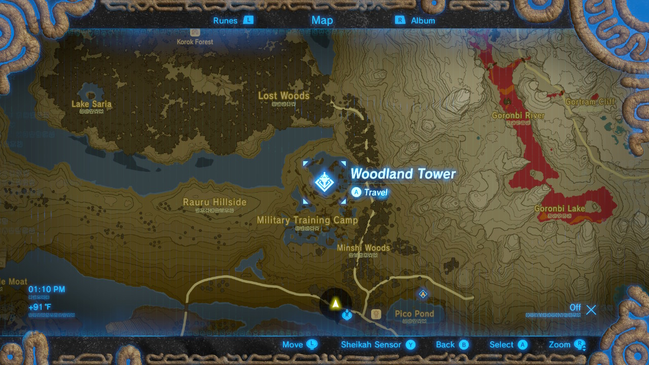 how to through the lost woods in breath of the wild polygon