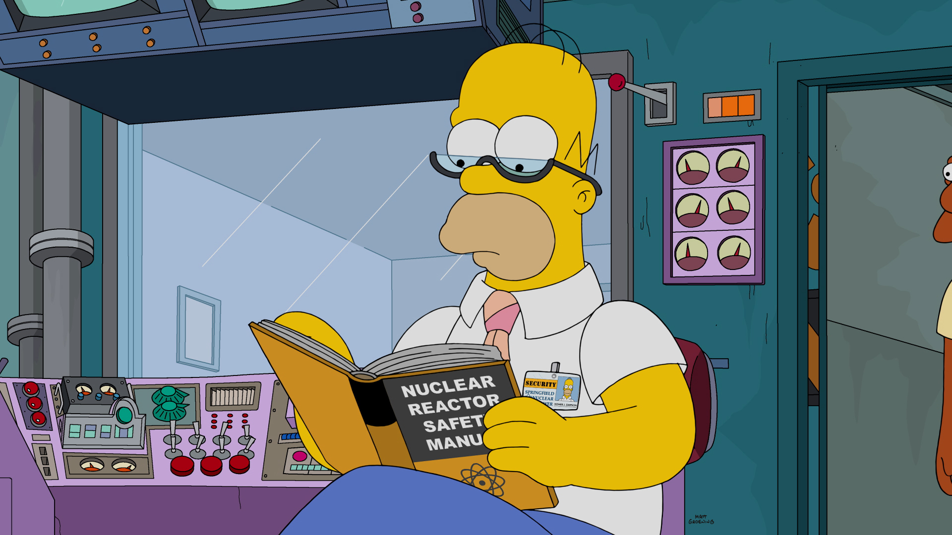 Image result for homer simpson running nuke plant episode