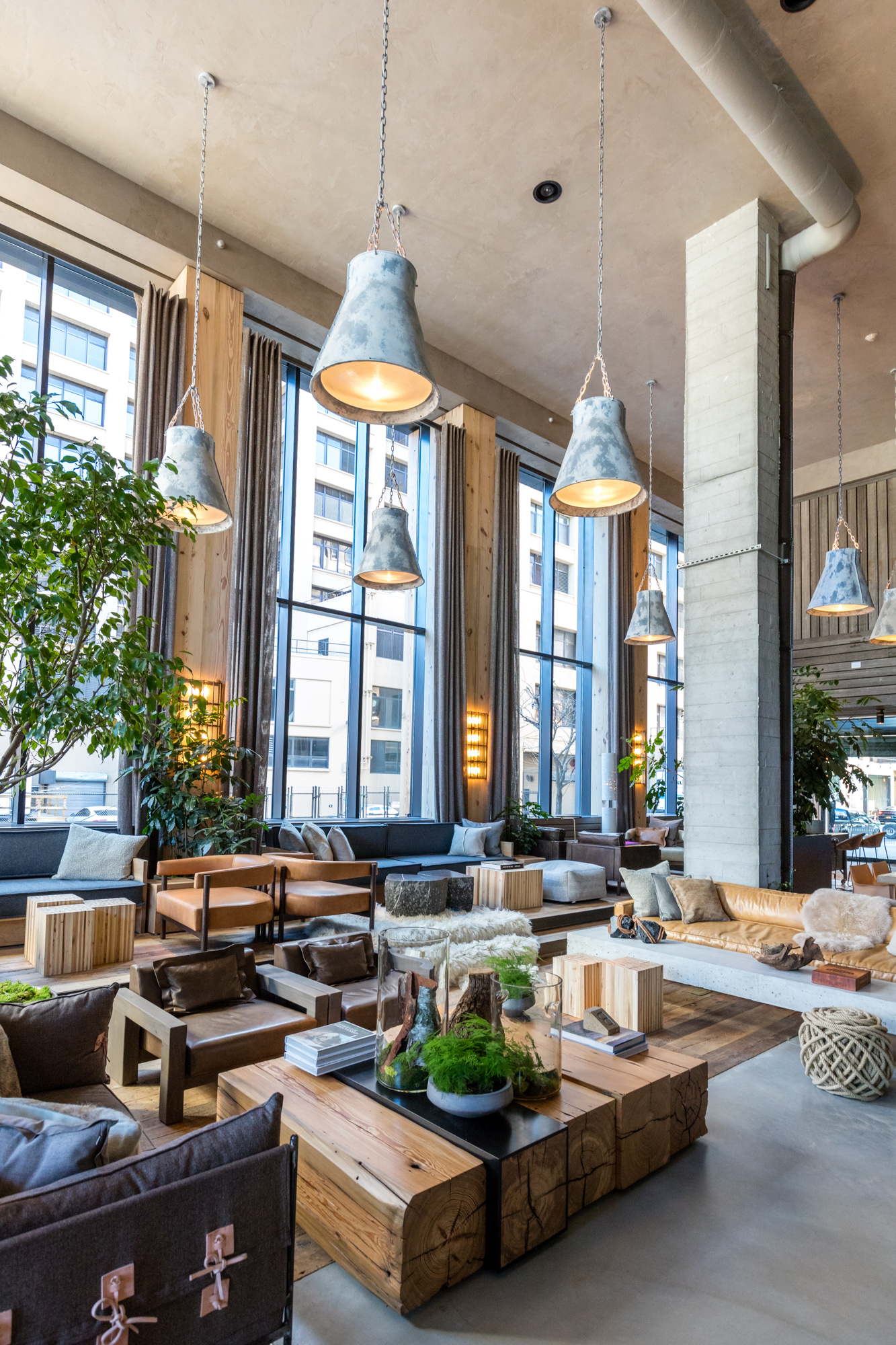 tour 1 hotels' new sustainable nyc hotel in brooklyn bridge park