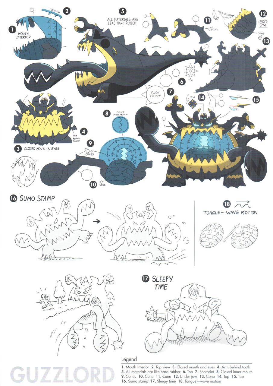 pok233mon sun and moon concept art shows their weirdest