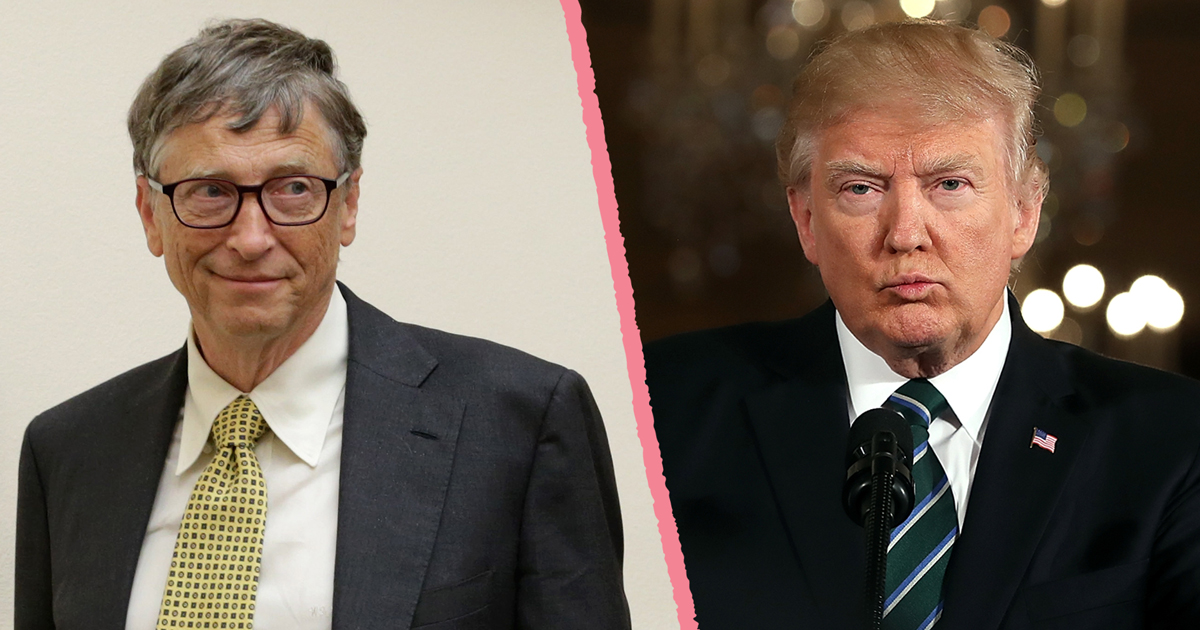 """Bill Gates takes his campaign against """"America First"""" directly to Donald Trump today"""
