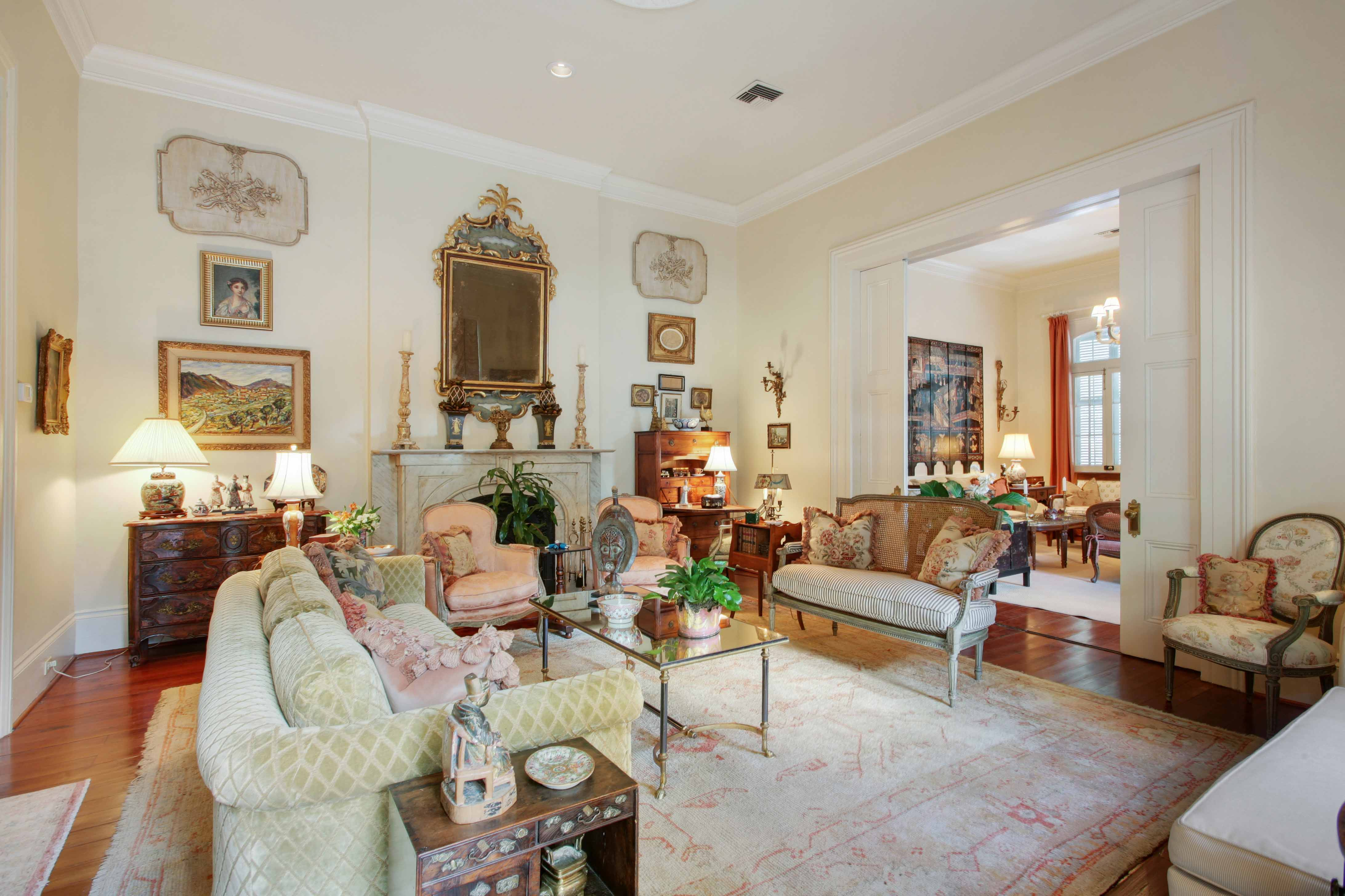 beautiful french quarter home with classic appeal asks 1 75m pocket doors a double parlor and a formal dining room a den and an eat in kitchen also add to the home s refreshing ambiance