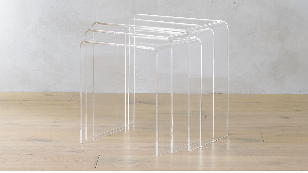 CB2, 3 Piece Peekaboo Acrylic Nesting Table Set, $199.00