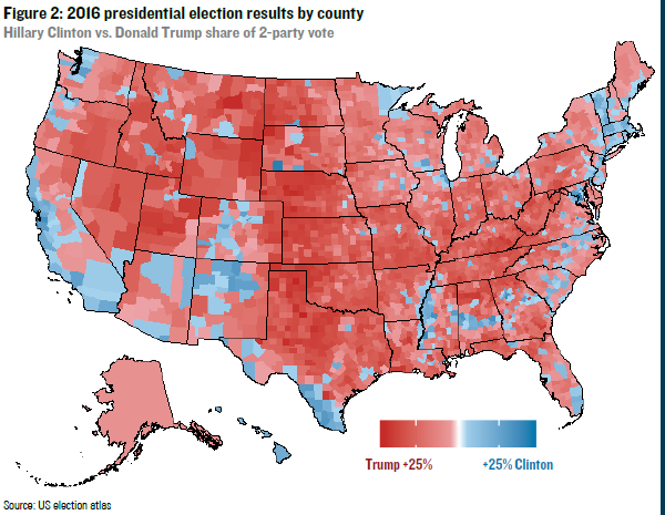 Your Vote In The Election Explains Almost Everything About - Us map of voting results by county