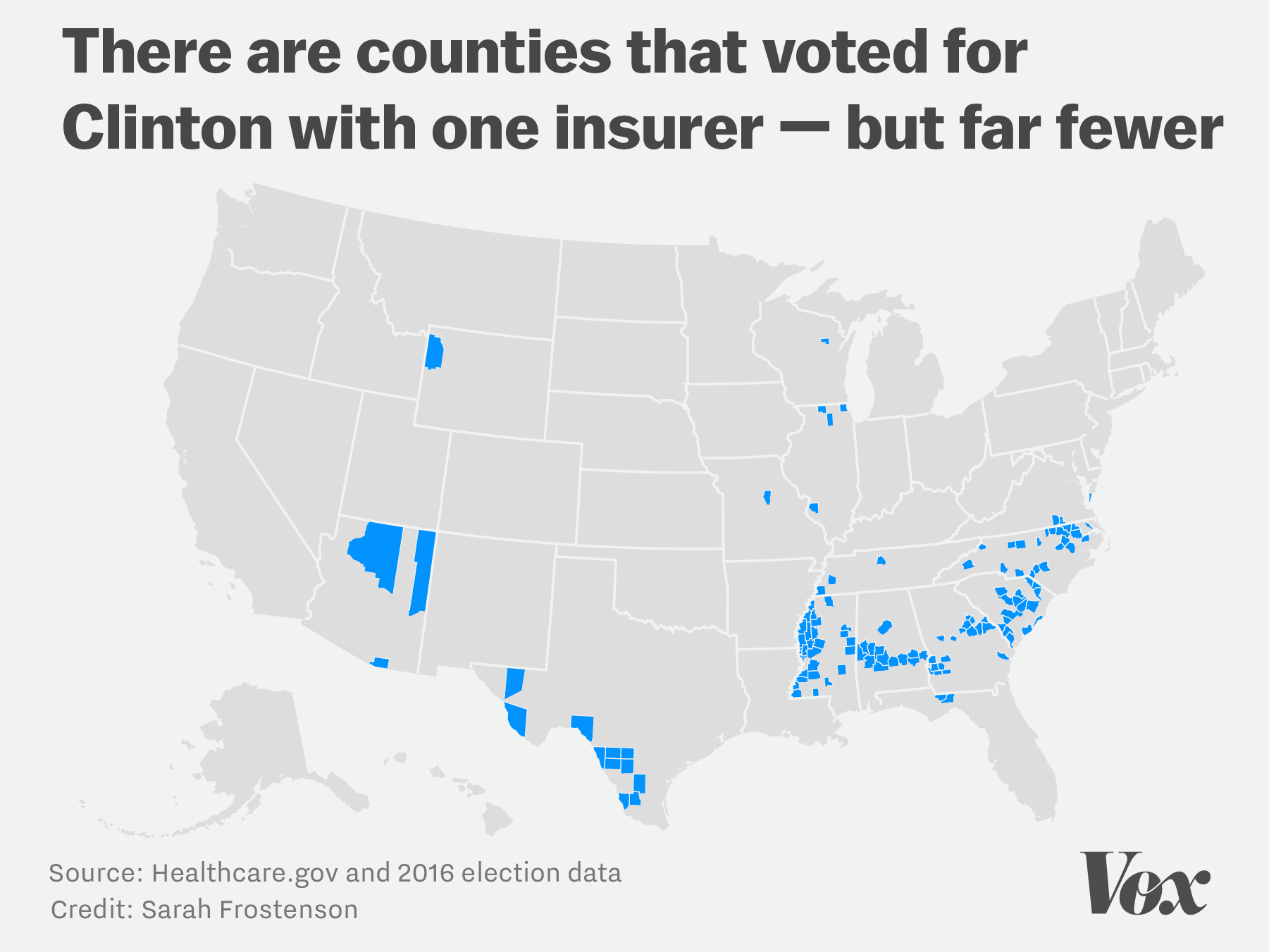 But Compare Them To The Counties With One Insurer That Voted For Trump And It S Easy To See That Trump Supporters Are Disproportionately Impacted