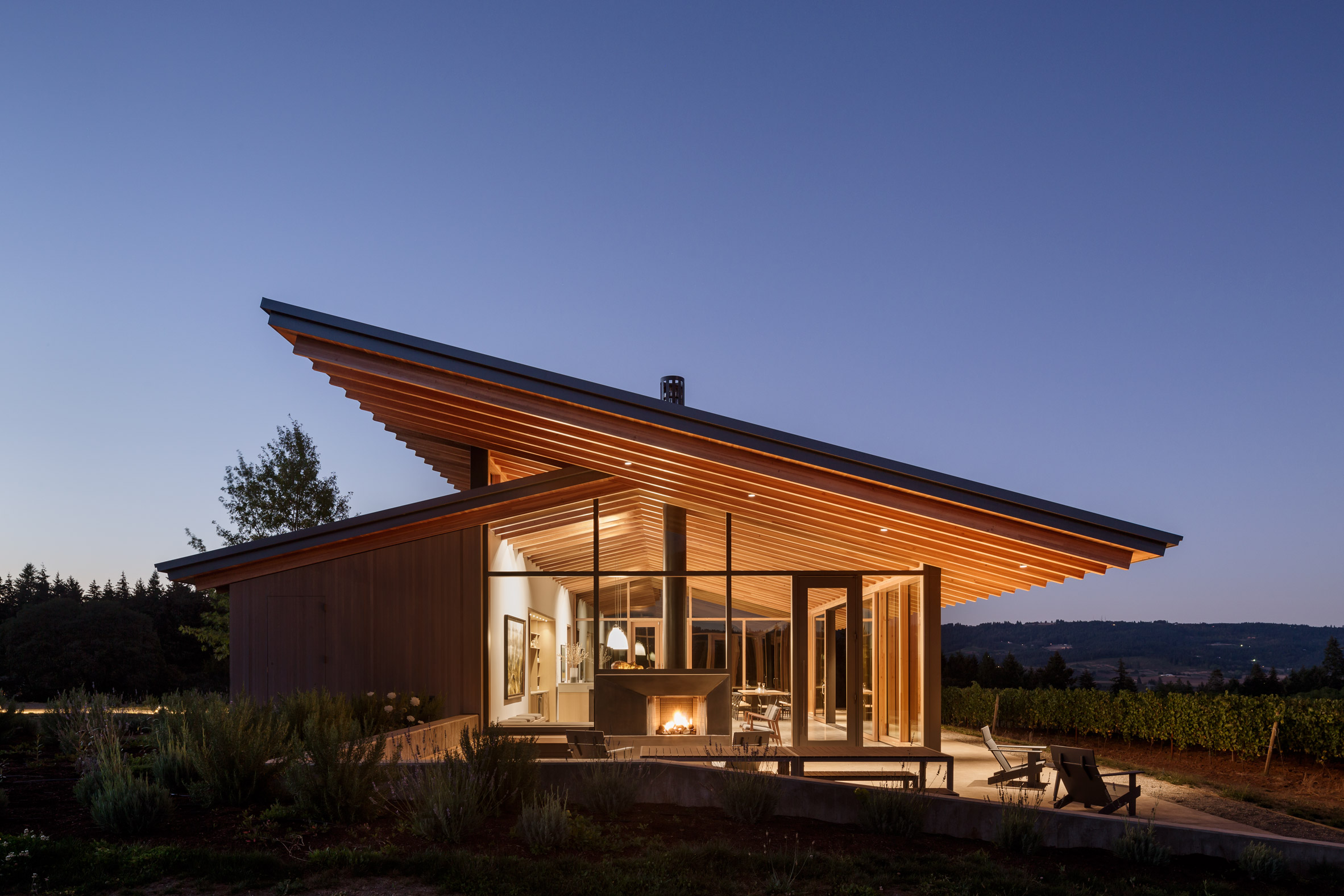 Wine Tasting Room Goes Sleek And Minimalist In Oregon Curbed