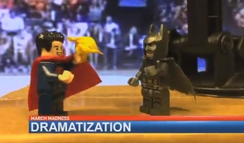 Local TV anchor makes his own hilarious March Madness highlights with Legos to get around NCAA rights