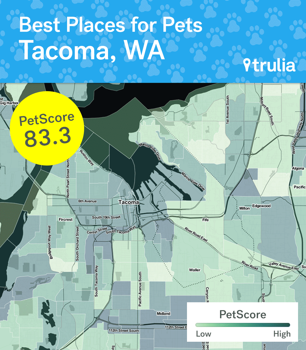 Tacoma Outpaces Seattle In Petfriendliness Ranking Curbed Seattle - Us tacoma map