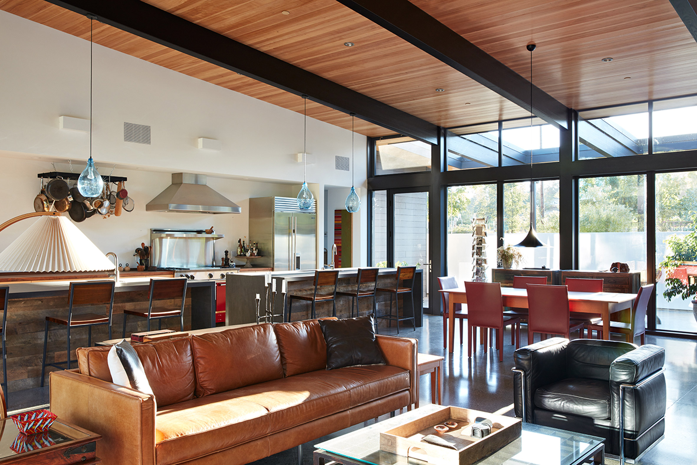 Midcentury inspired california home is an indoor outdoor dream curbed for Interior design school sacramento ca