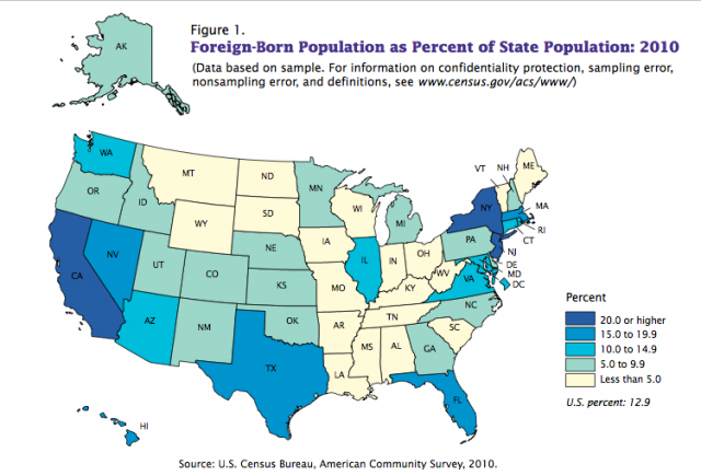 The Case For Immigration Vox - Us map as seen by foreigners