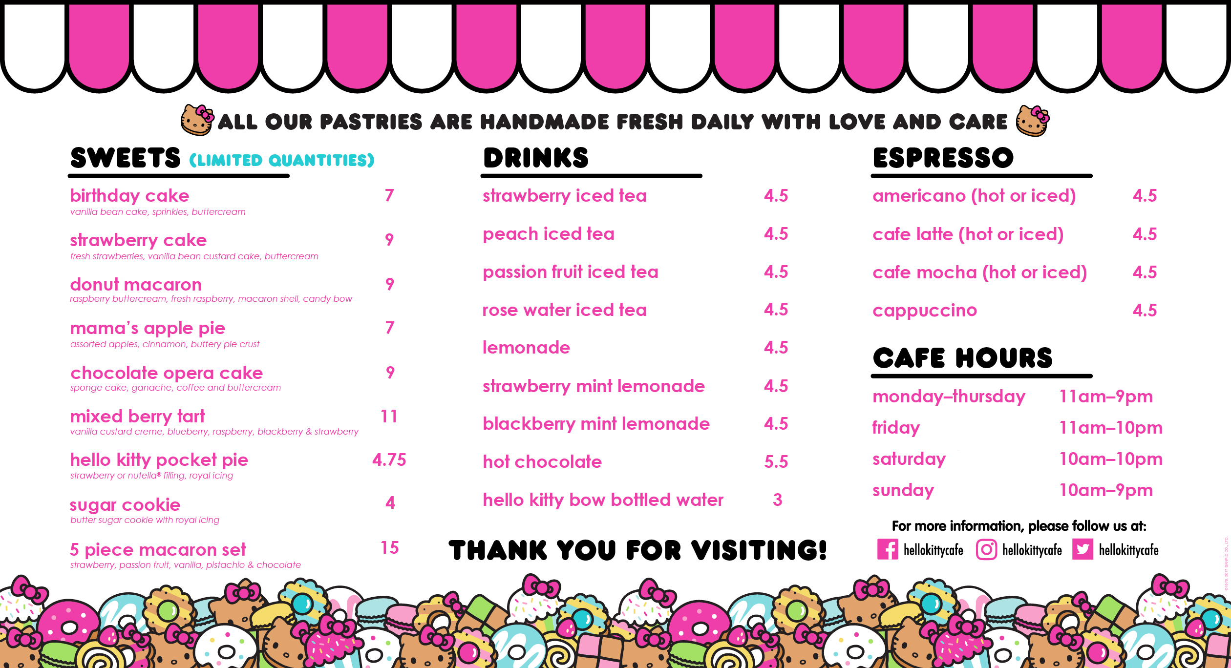 Squeal Alert Hello Kitty Opening Permanent Mini Cafe In