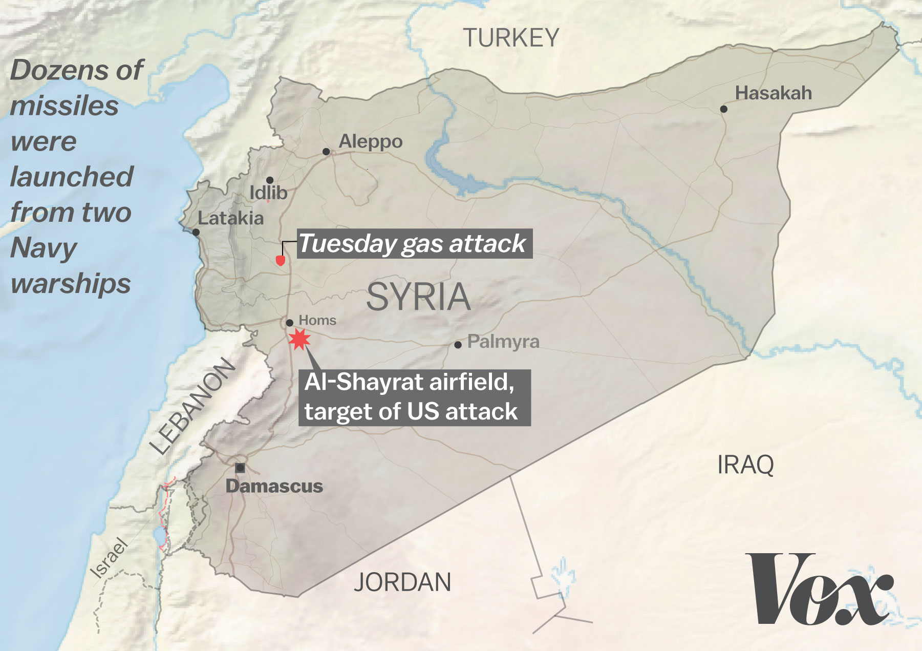 The US Strike Against Syria What We Know So Far Vox - Where is syria located on the map