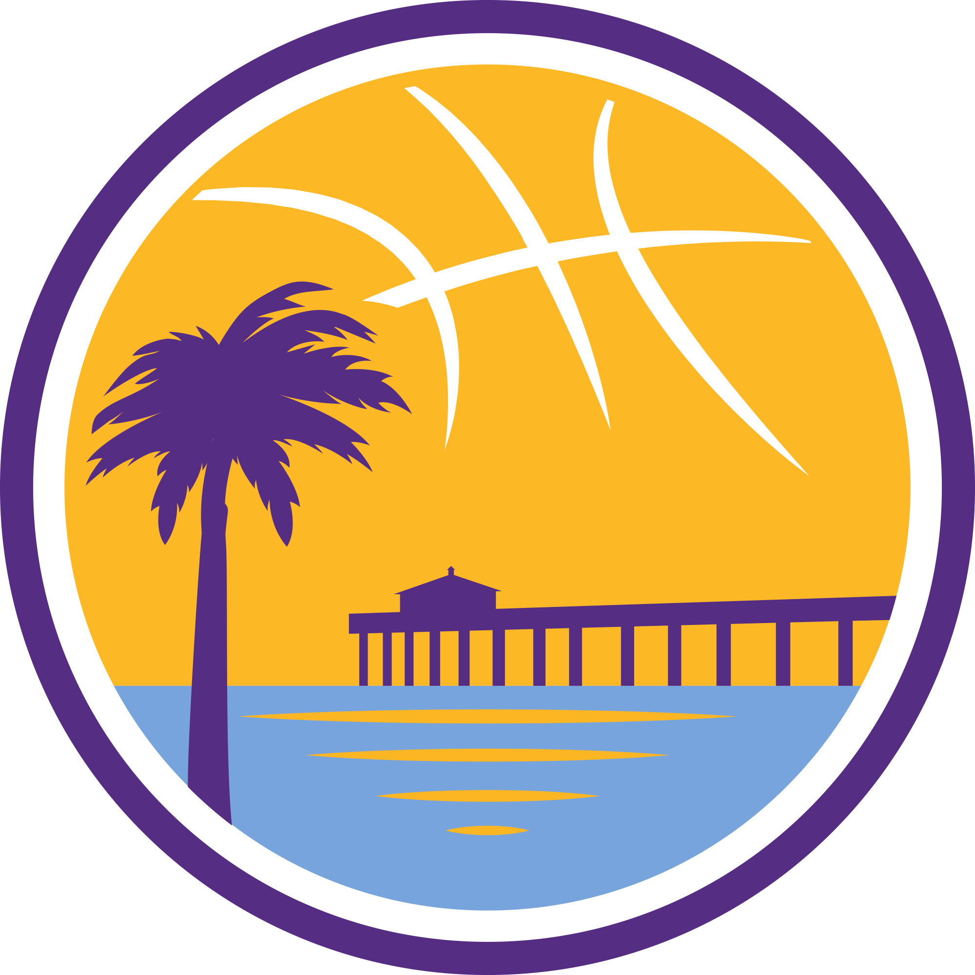 Lakers david nwaba and the d fenders fall in the first round of the secondary logo goes even further incorporating a pier and palm tree over the minimalist ocean view voltagebd Images