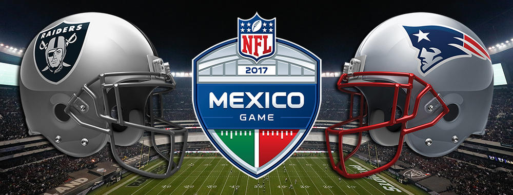 Image result for raiders vs patriots in mexico city