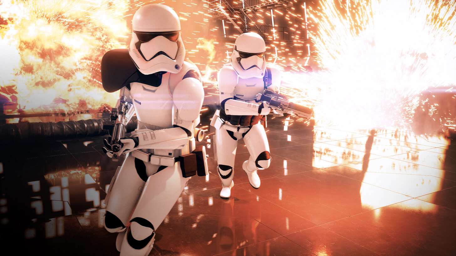 Star Wars Battlefront 2- stormtroopers with explosions