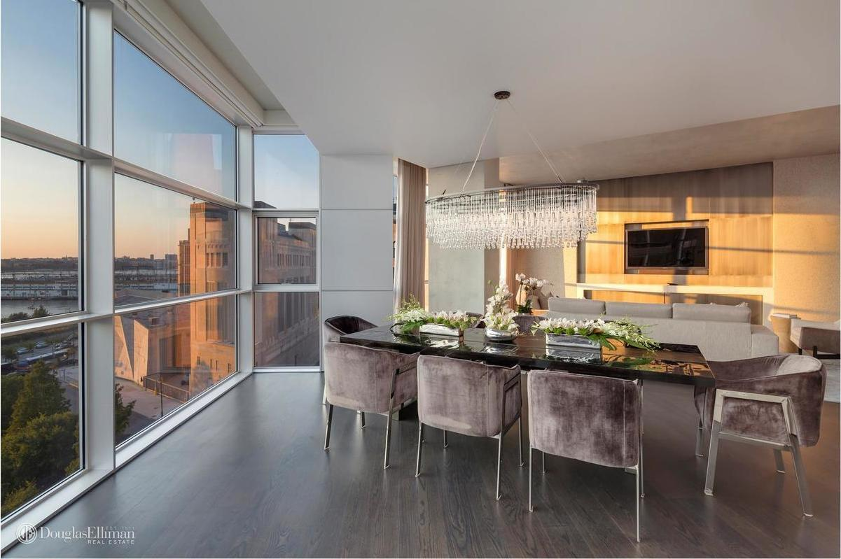 The listing notes the triplex s floor to ceiling glass windows  several  bedroom suites including an eighth floor master with a walk in closet and   opulent. Kim Kardashian and Kanye West s onetime Tribeca Airbnb returns for