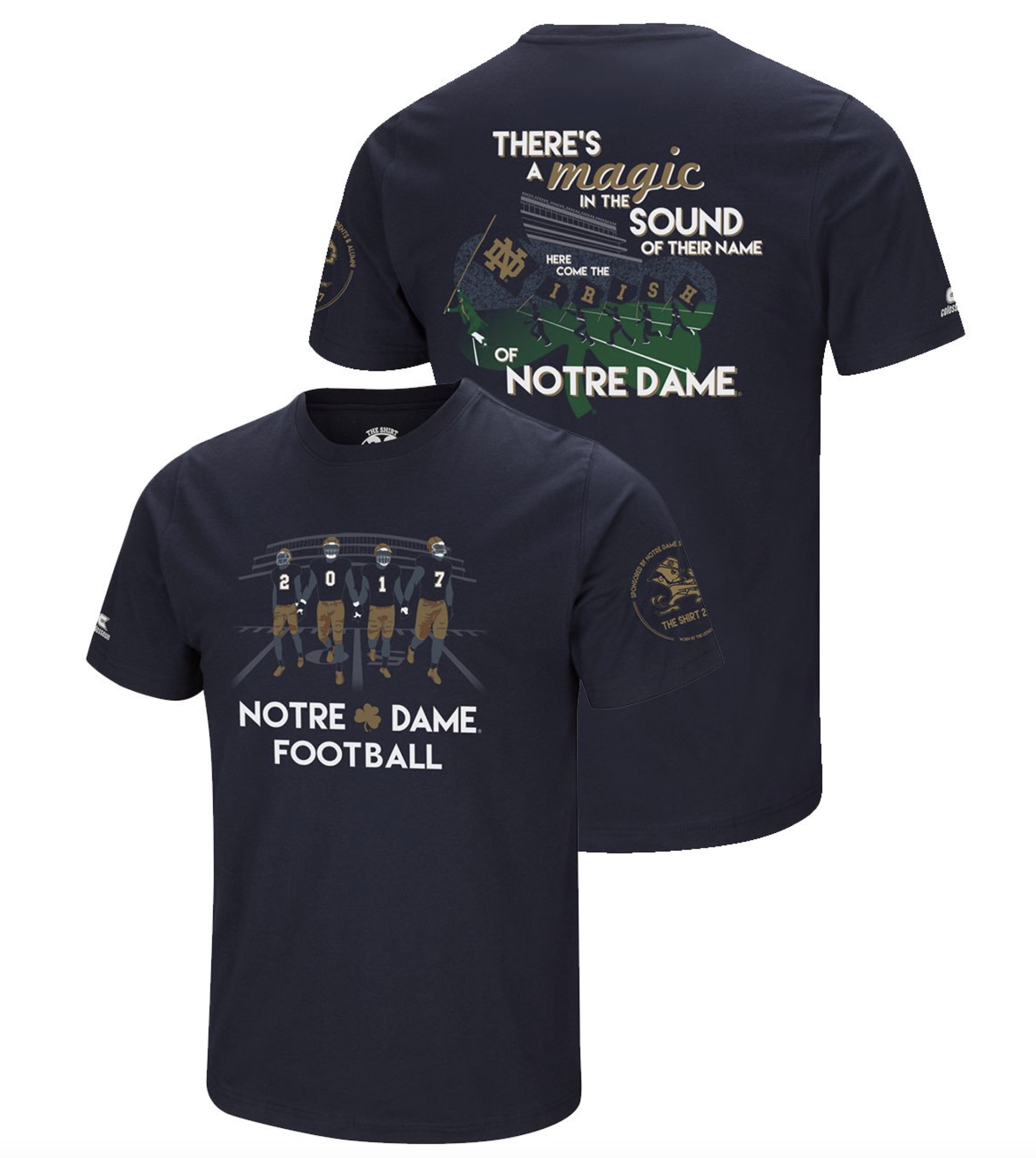 Notre dame football 2017 the shirt unveiling one foot for Notre dame tee shirts