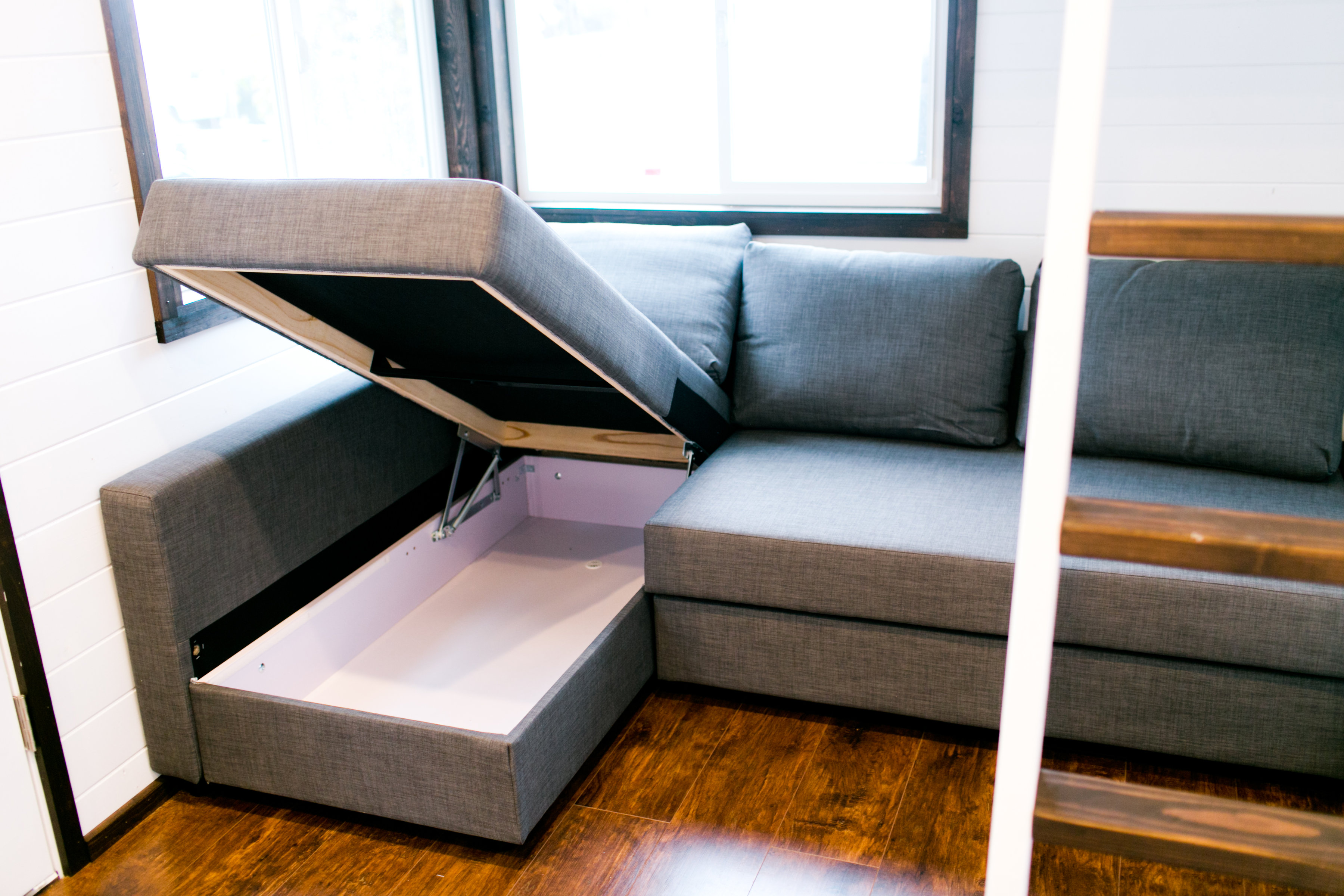 tiny house sofa a bellingham tiny house builder combines style and storage 2843