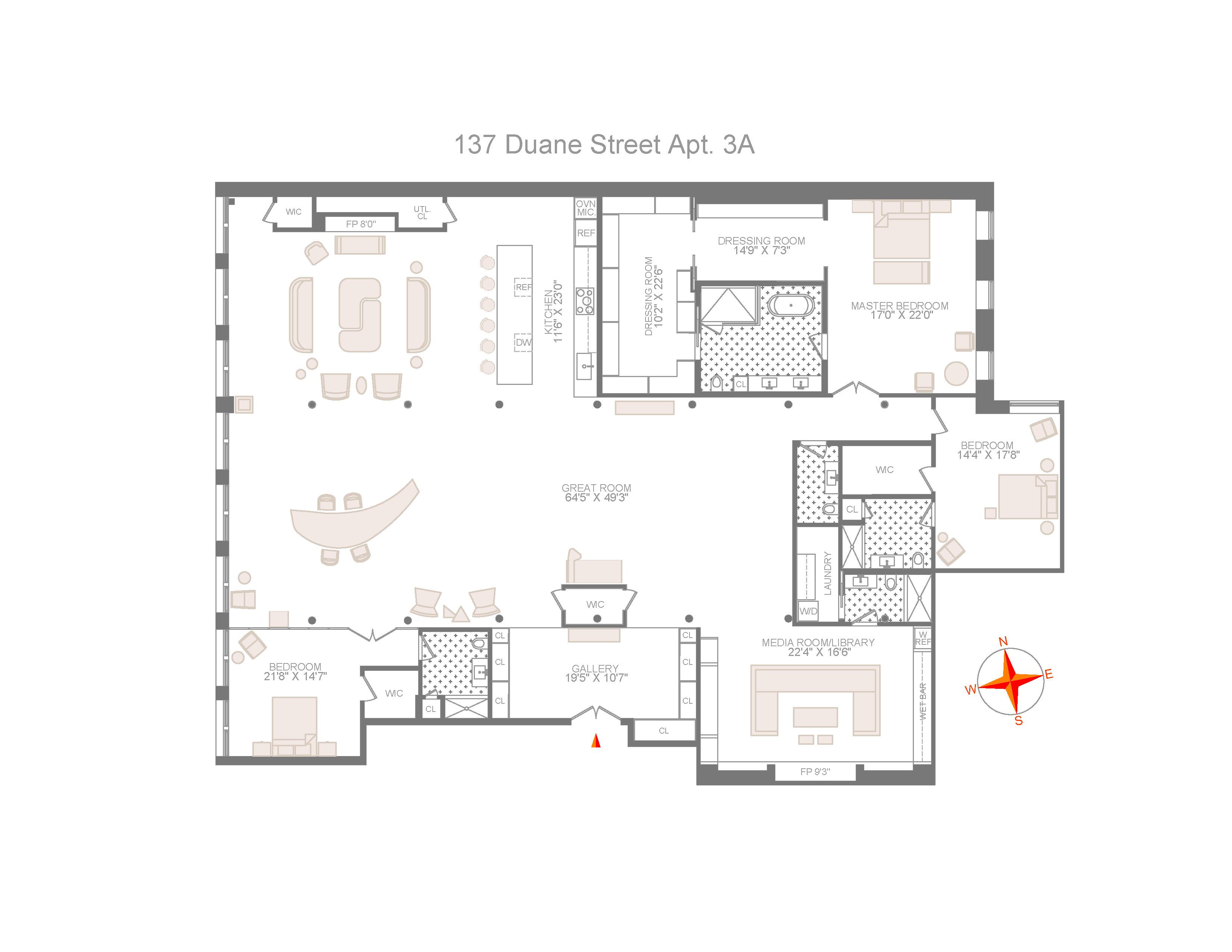 Huge Tribeca Loft Seeks 15m After Dramatic Revamp Curbed Ny
