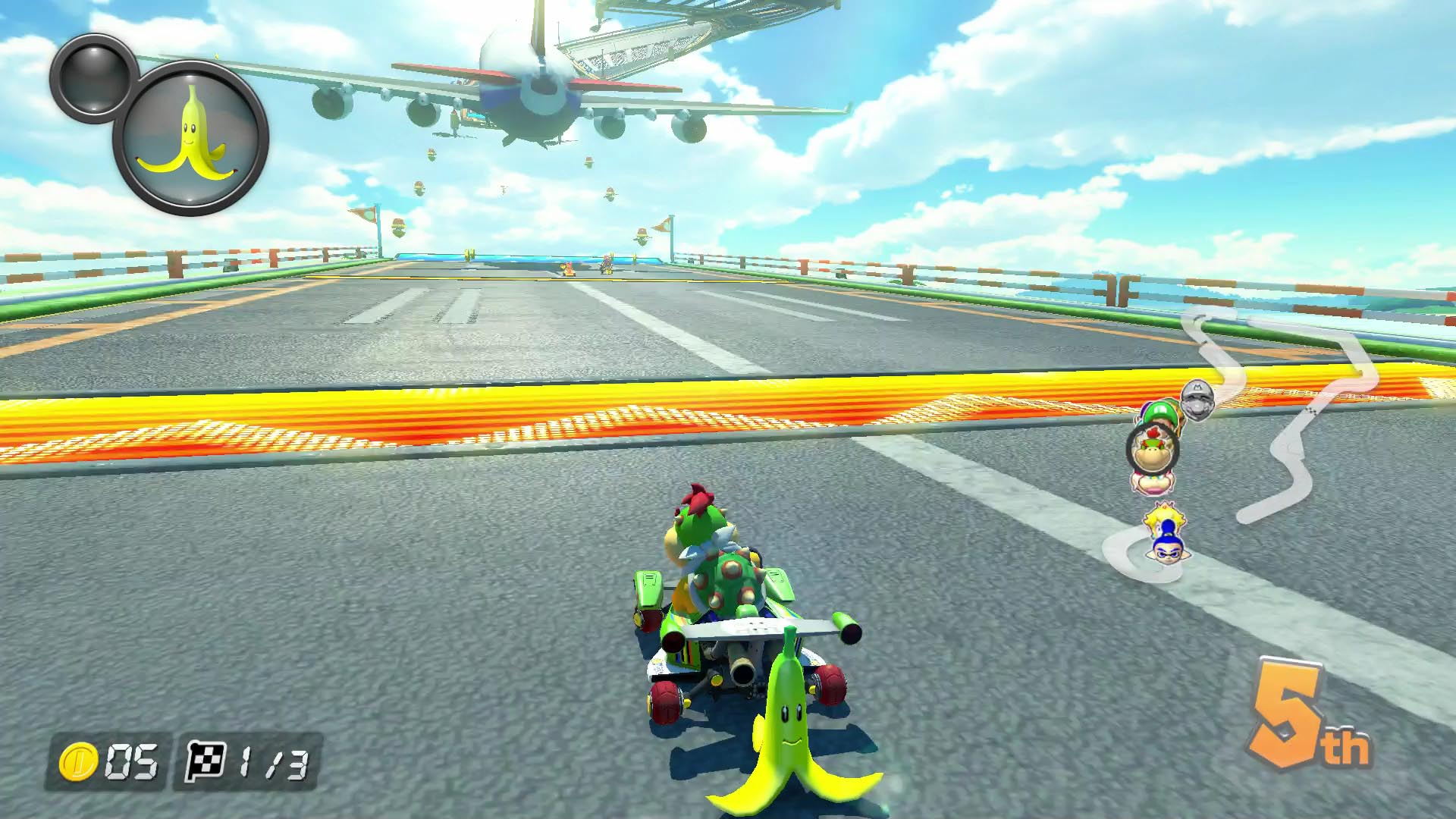 in the original mario kart 8 holding an item behind your kart remove it from your currently held arsenal that has not changed in mario kart 8
