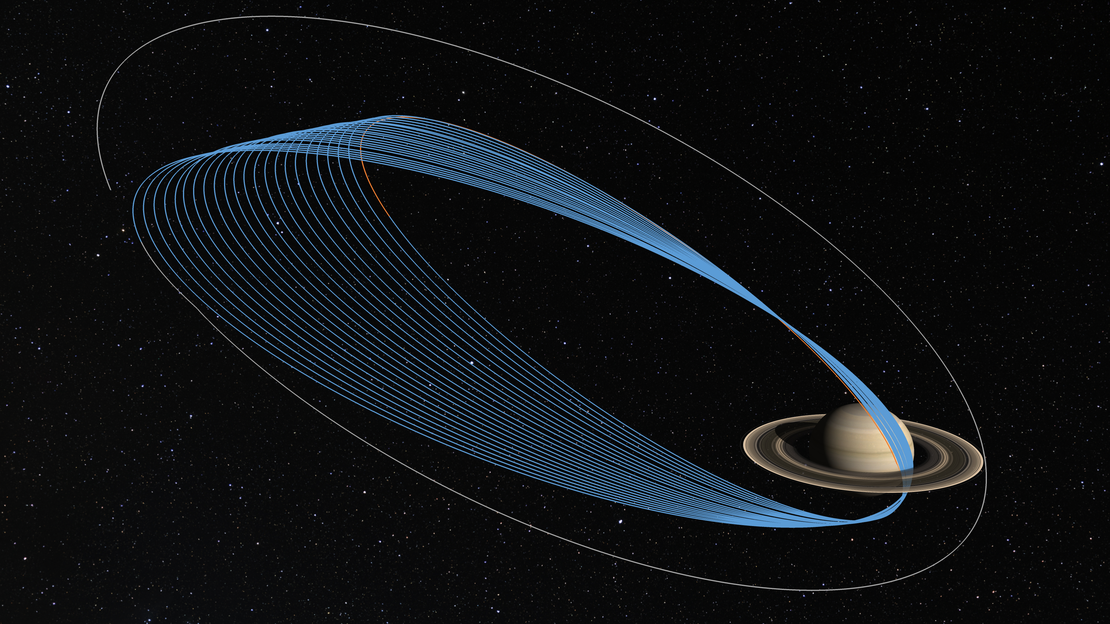 The Cassini spacecraft's dive in between Saturn's rings ...