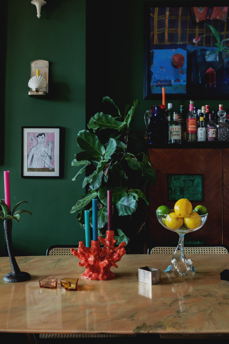 London flat goes all-in on color and whimsical decor