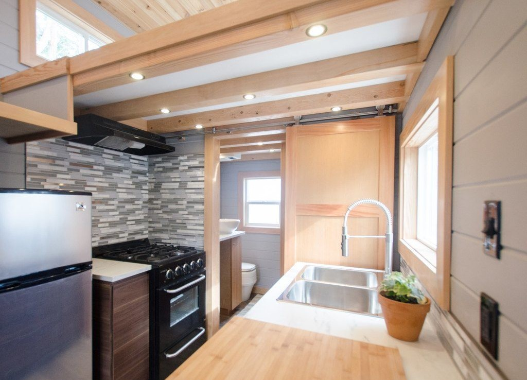 tiny house goes off-grid with big amenities - curbed