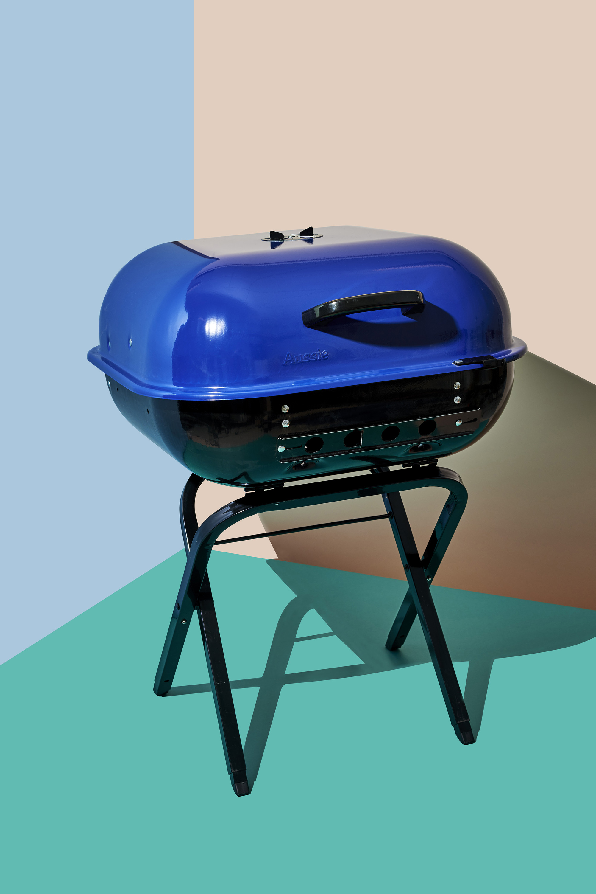 In A Vibrant Blue, This Portable Charcoal Grill Starts The Party Wherever  You Are.