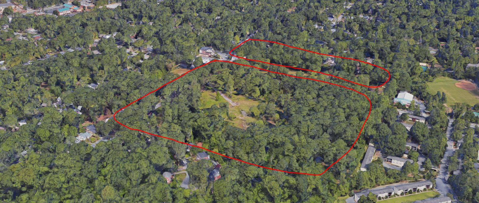 The two sites slated for tree removal. Google Maps & Atlantau0027s Peachtree Hills tree canopy could be decimated by ...