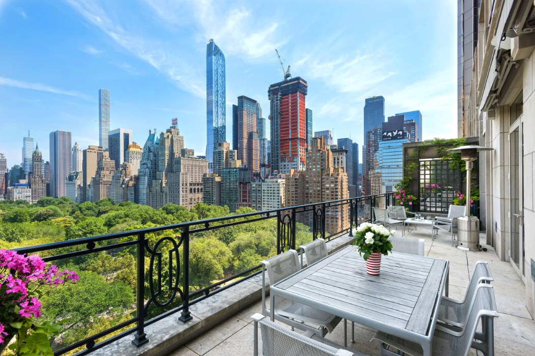 Sting 39 s stylish 15 central park west duplex hits the for New york city penthouses central park