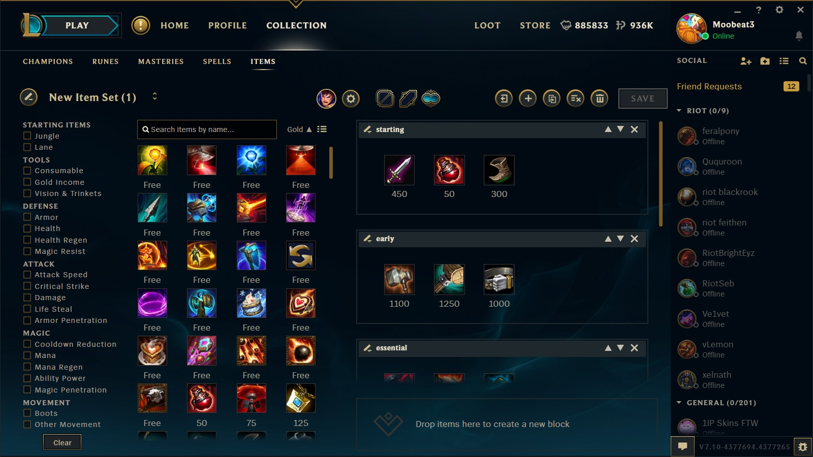 How To Make Builds In New Client League