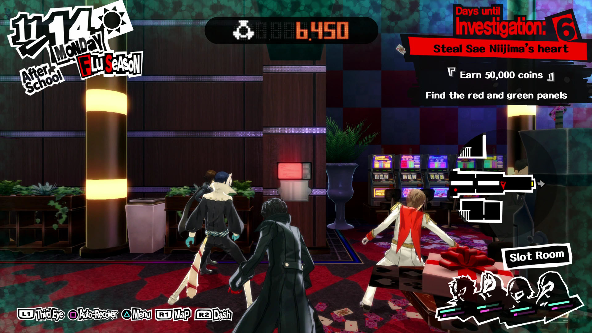 persona 5 casino red and green