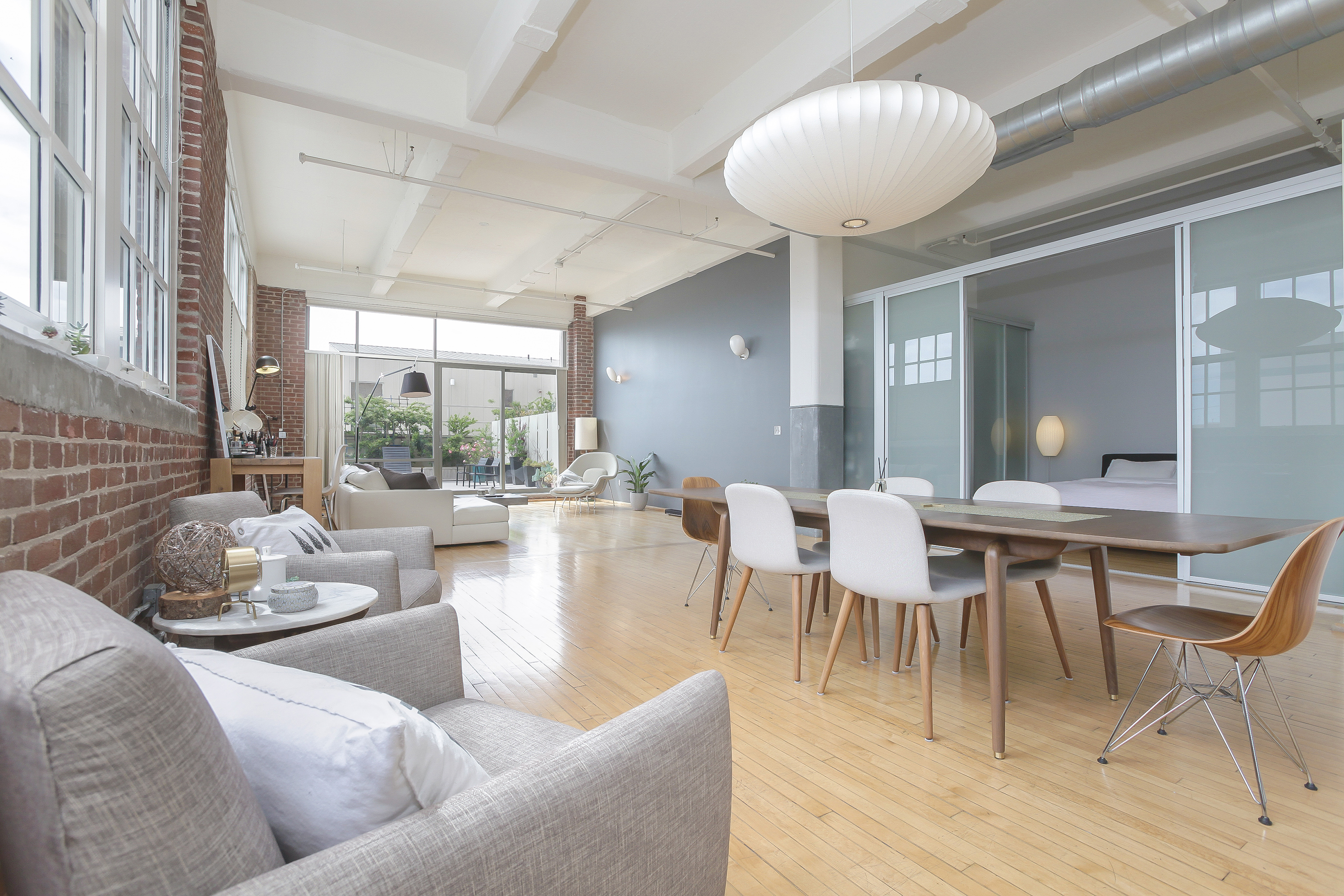 Located In The Arts Districtu0027s Landmarked Biscuit Company Lofts Building,  It Has Large Windows, High Ceilings, And Original Brick Walls That Drive  Home An ...