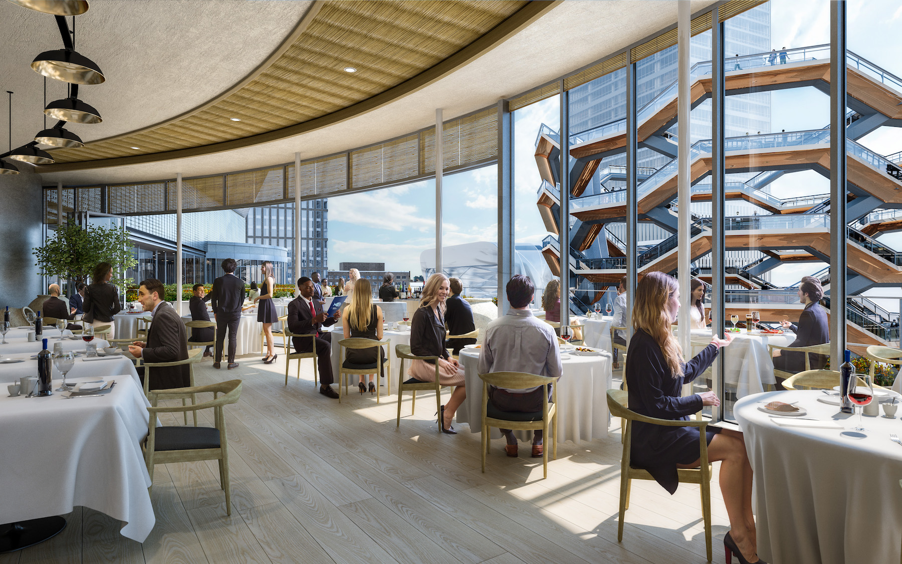 Hudson Yards s expansive shopping center and restaurants new
