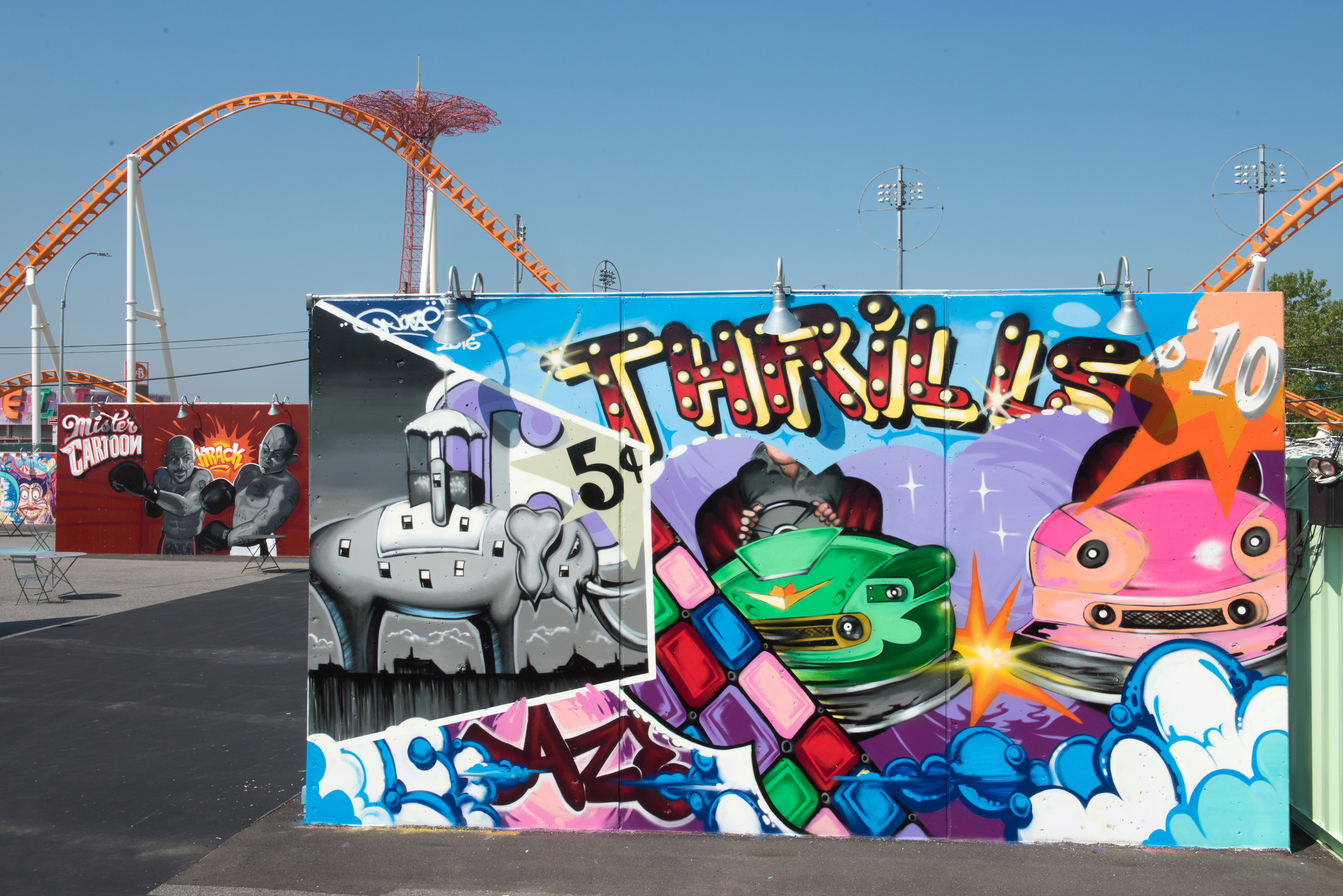 Coney art walls return this weekend for the summer season for Coney island mural