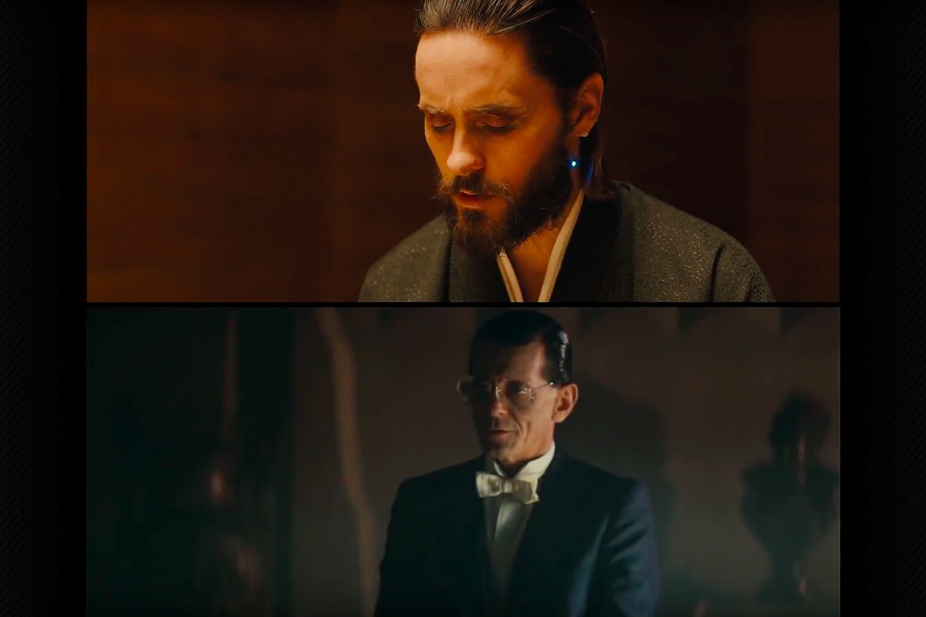 top blade runner 2049 wallace lit from the top bottom original tyrell with bounced light reflected off water