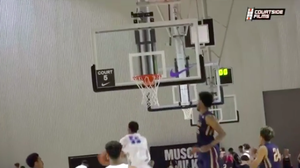 4-star basketball recruit Darius Bazley's fake dunk into a layup should earn him some offers