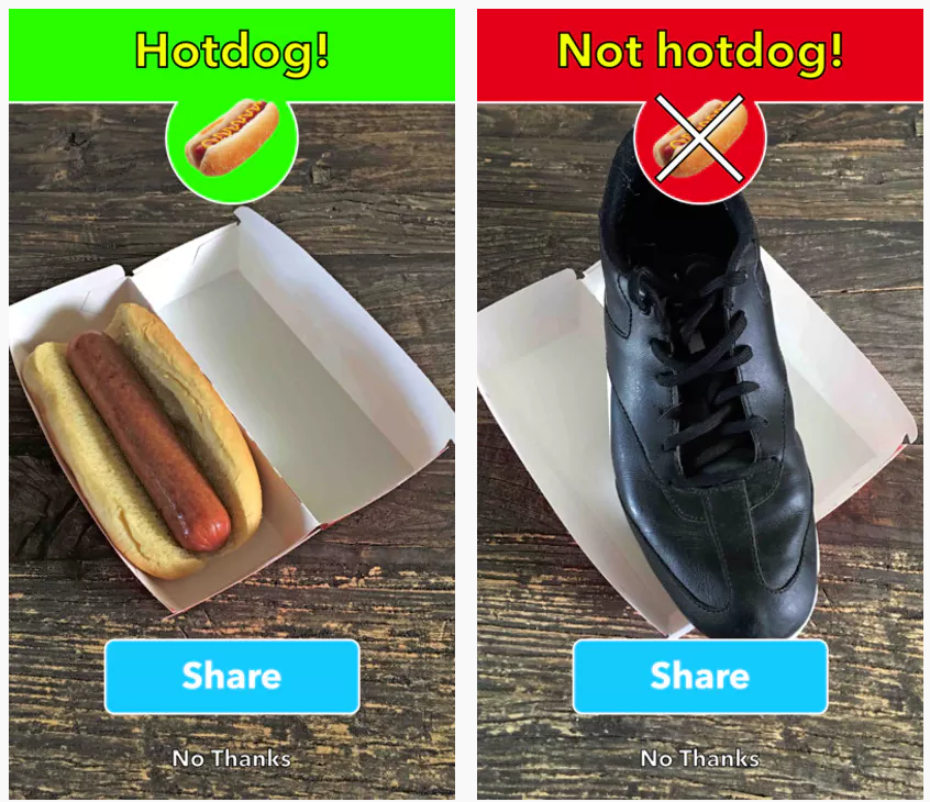 Silicon Valley App Hot Dog