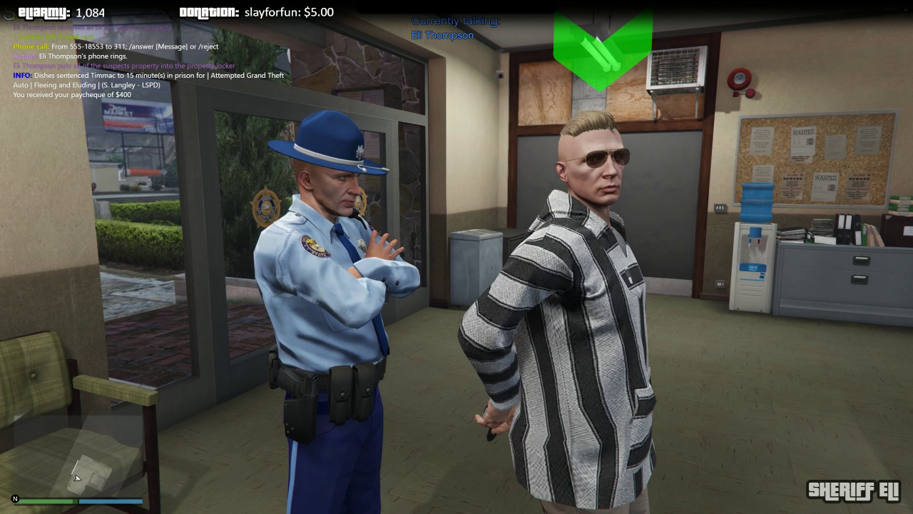GTA Online - Sheriff Eli at police station