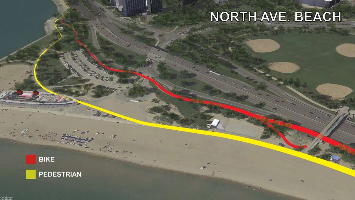 Lakefront Trail Separation In Lincoln Park Underway Curbed Chicago - Chicago map north avenue beach